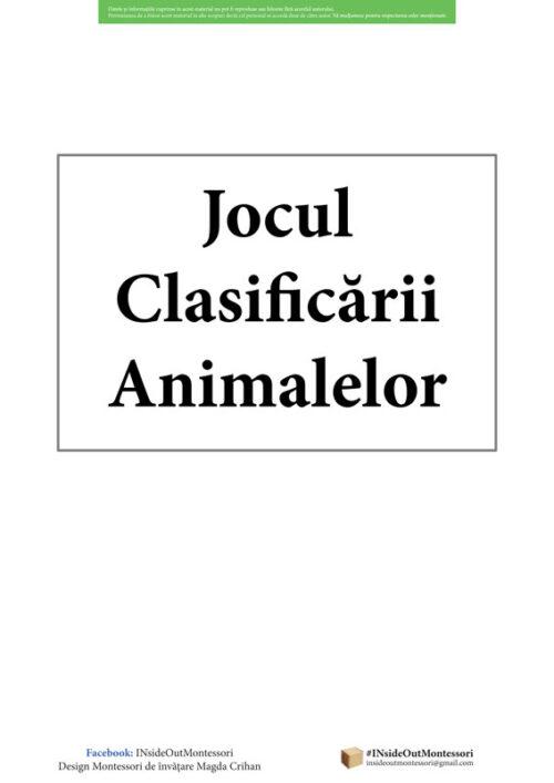 Jocul Clasificarii Animalelor