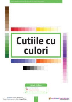 Cutiile cu culori