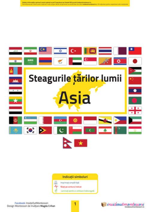 Steagurile tarilor - Asia