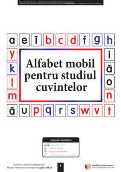 Alfabet mobil pentru studiul cuvintelor