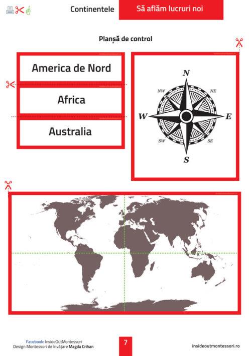 Sa aflam lucruri noi - Continentele